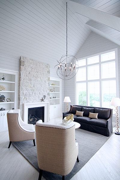 Custom Home Living Room Designs