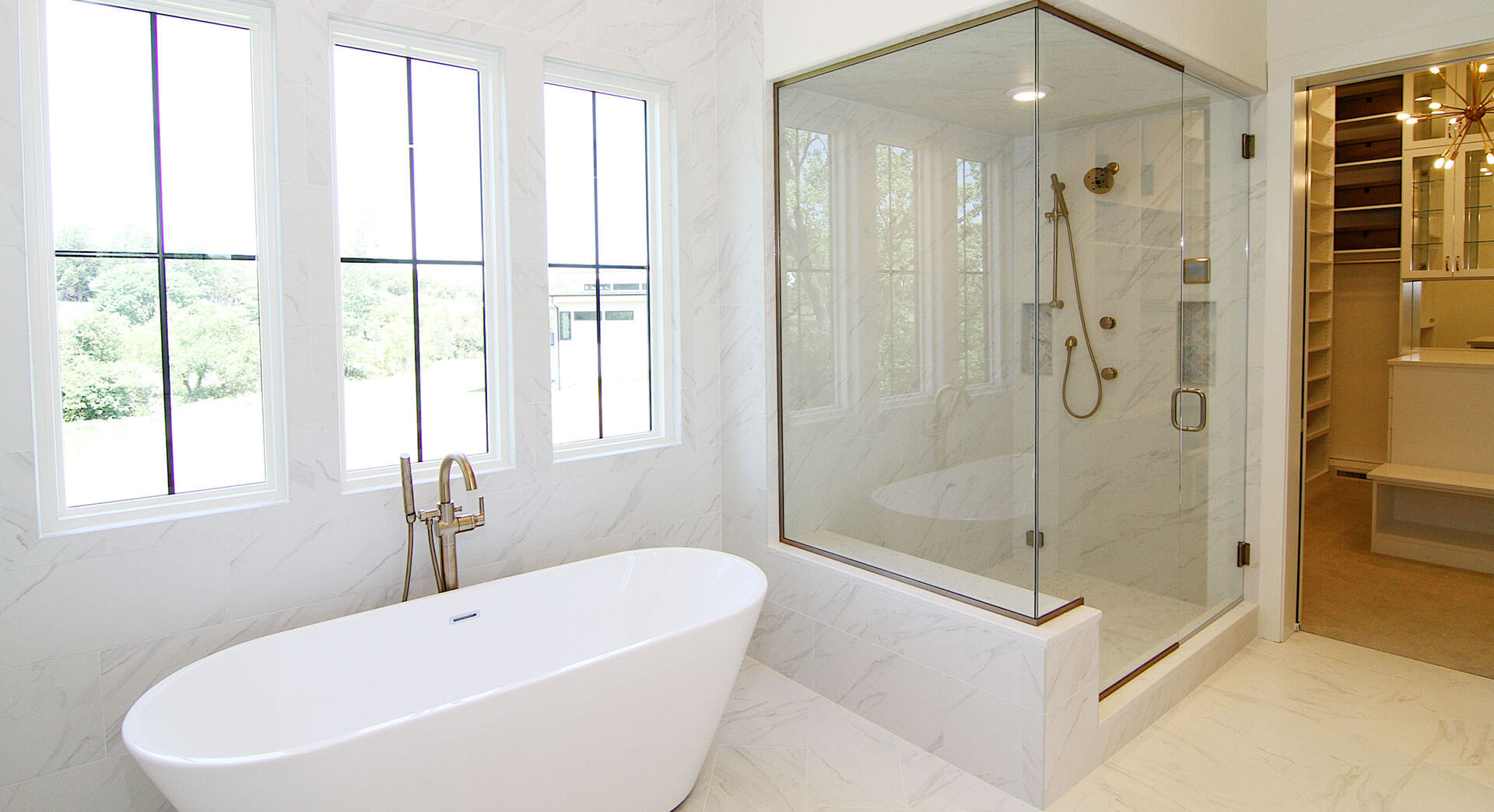 Custom home bathroom photo