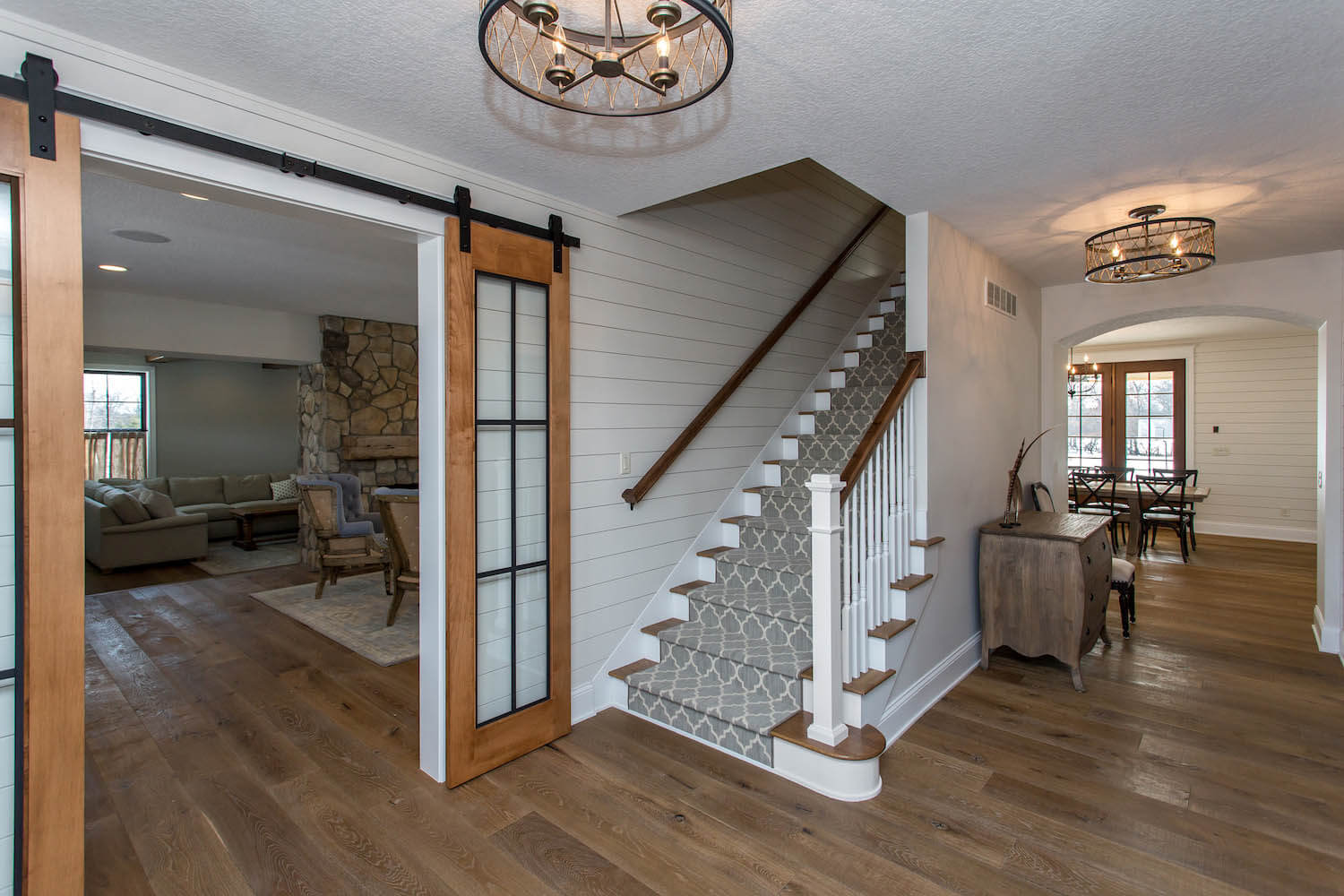 Entryway and steps