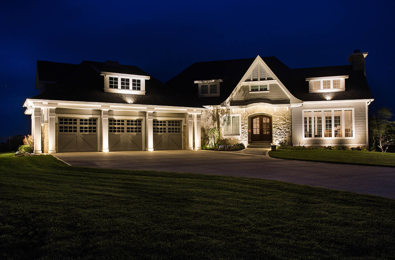 Home Exterior at Night