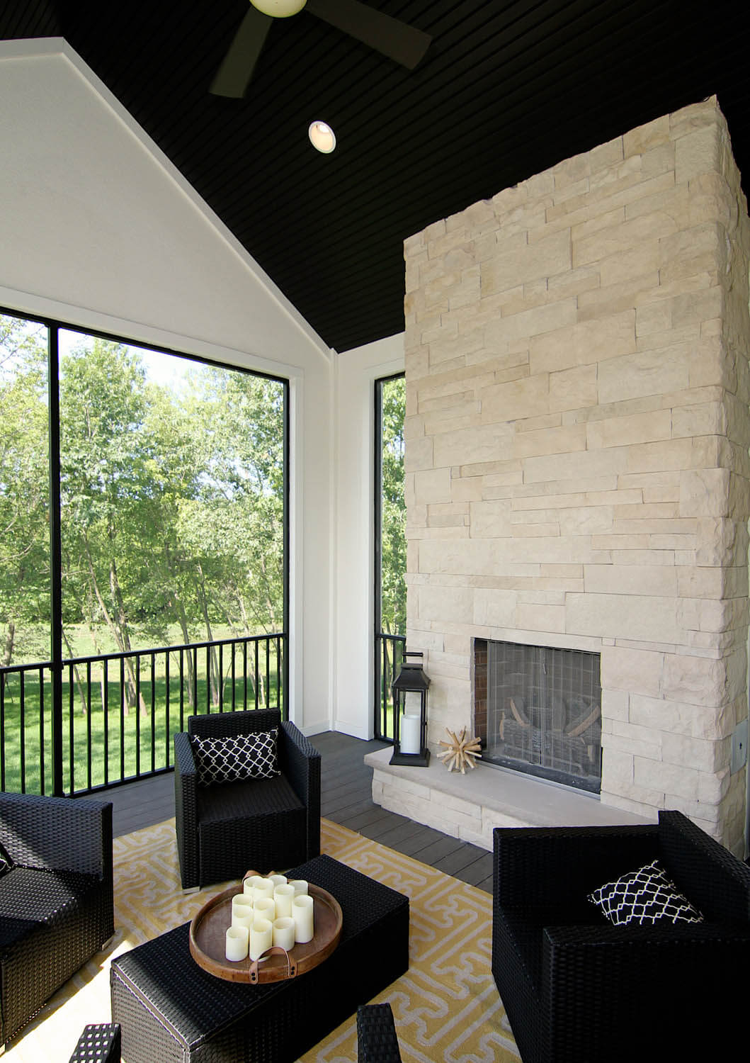 Relaxing Outdoor Fireplace