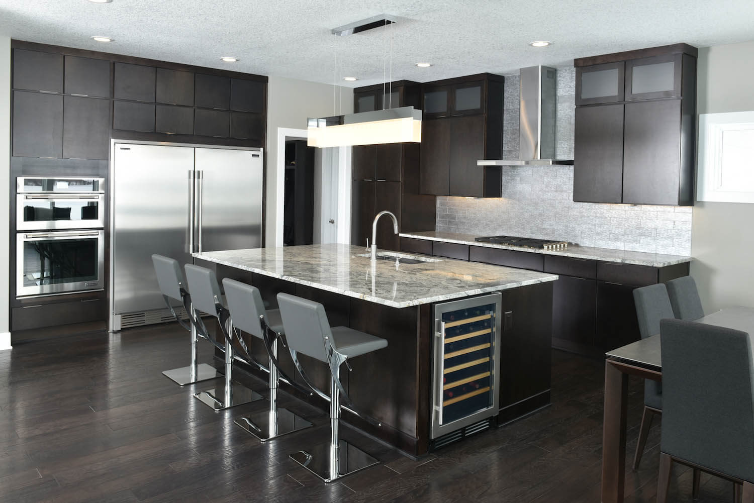 Dark Colored Kitchen