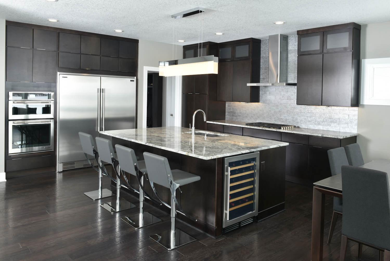 Dark Colored Kitchen