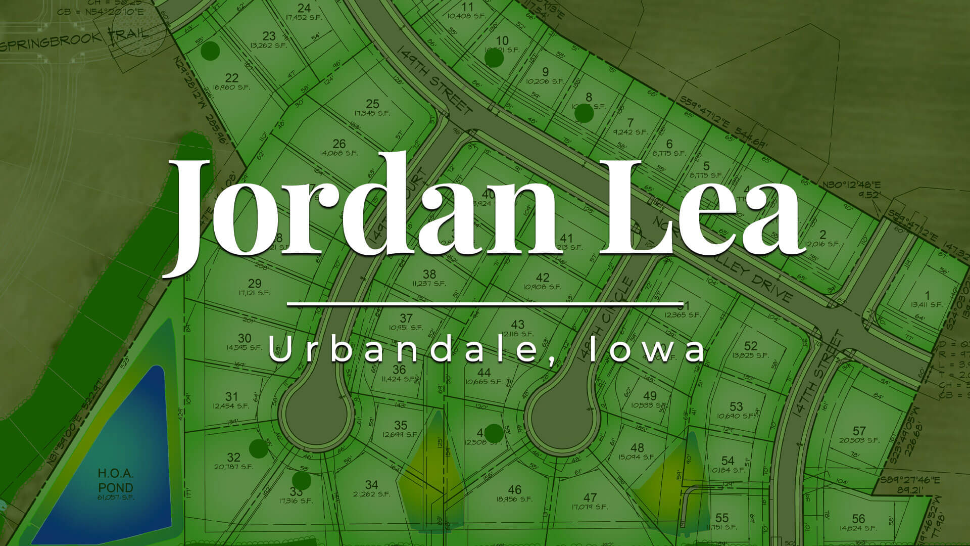 Jordan Lea lots for sale in Urbandale, Iowa