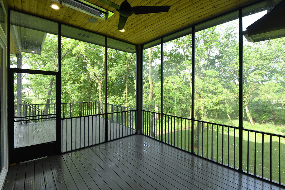 Neighborhood Builders Deck with Radiant Heating